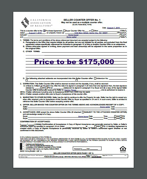 Counteroffer, 1 page